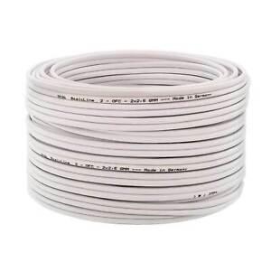 Lautsprecherkabel High End 100/% Kupfer OFC 50 m 2x2,5 mm² HiFi Box LS Kabel