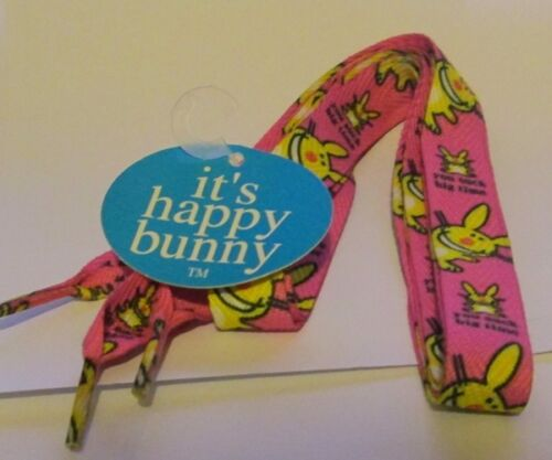 """Happy Bunny 48/"""" Extra Wide Shoe Laces YOU SUCK BIG TIME"""