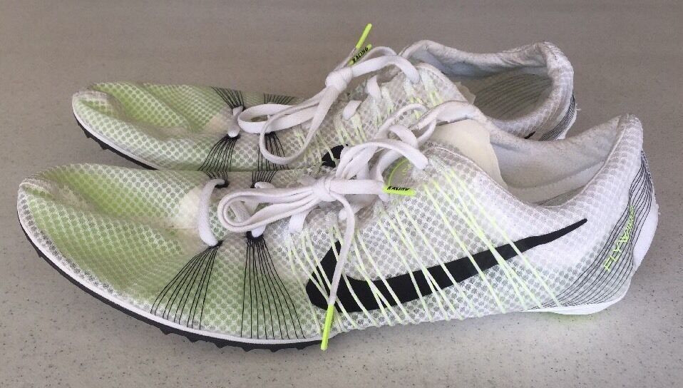 Great discount Nike Zoom Victory 2 Track Running Spikes White/Volt 555365-170 US 15-New