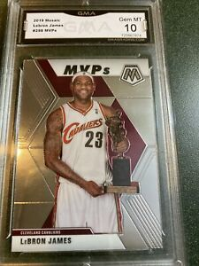 2019-20-Panini-Mosaic-LeBron-James-298-MVP-Base-Graded-GMA-Gem-Mint-10-Sgc-Psa