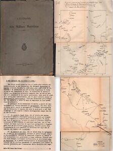 Navi Lezioni di arte militare marittima Livorno 1934 con schemi di battaglie