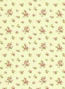 Wallpaper-English-Cottage-Mini-Rose-Toss-Pink-Red-Green-on-Cream-Background