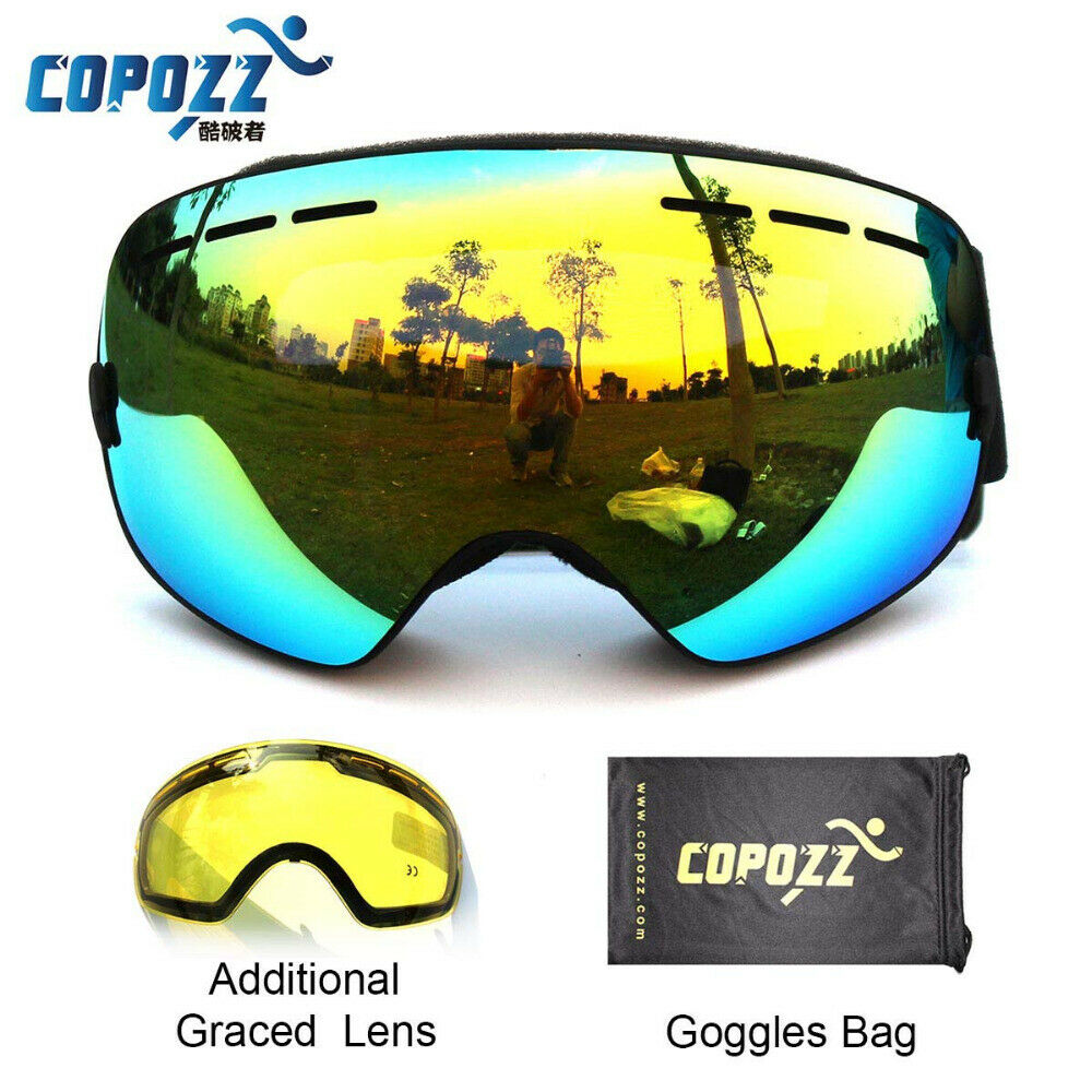 Ski Goggles Double Lens UV400 Anti Fog Ski  Glasses With Night Vision Ski Lens  discount store