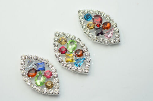 5 Costume Dress Colorful Crystal Rhinestone Applique Sewing On A631