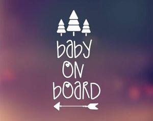 Baby-on-Board-Arrow-Trees-Vinyl-Decal-Sticker-for-Car-Laptop-Trucks-Walls-etc