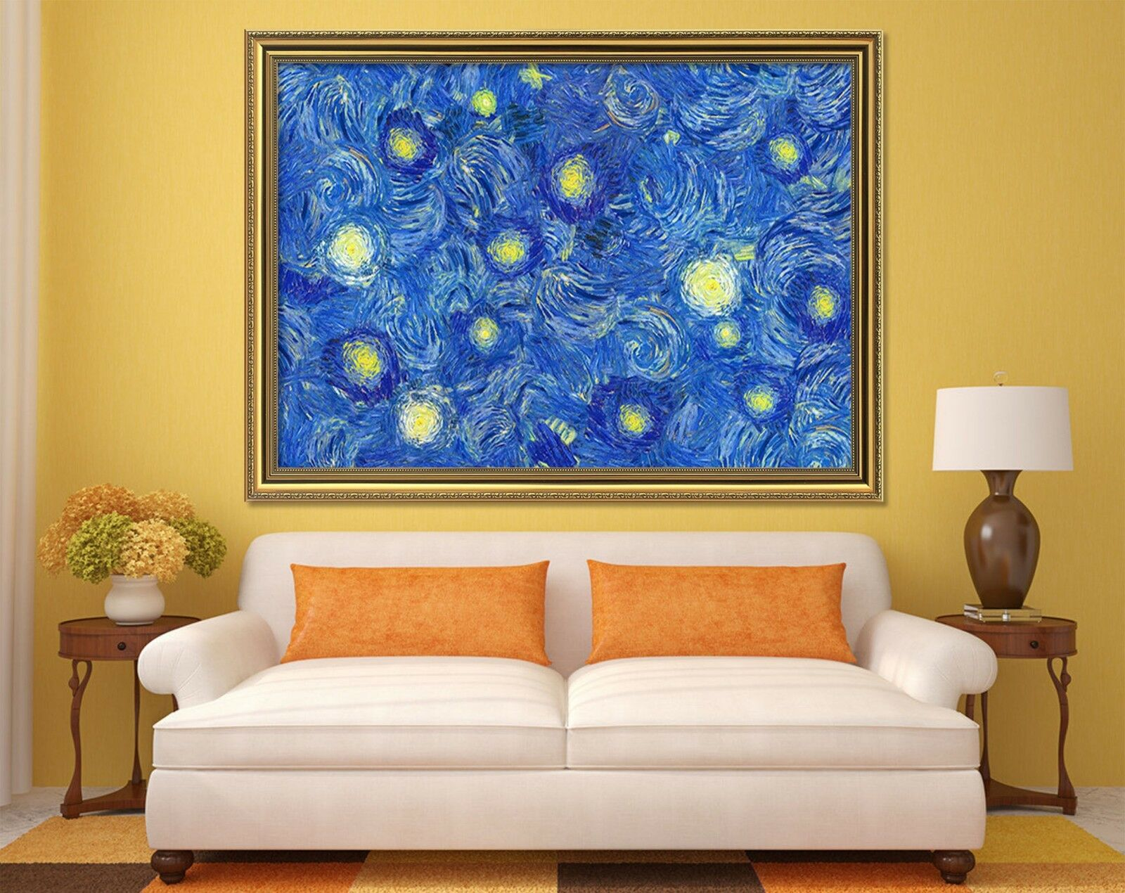 3D Farbe Paint 65 Fake Framed Poster Home Decor Print Painting Unique Art Summer