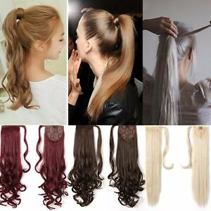 Details about New Ponytail Clip In Hair Extension