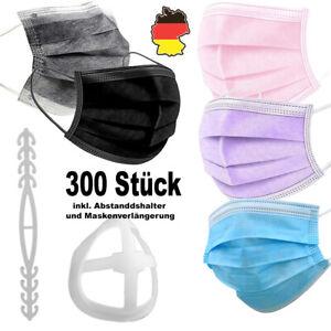 10 / 300 Mundschutz Maske 3Lagig Einwegmaske Nasenbedeckung  Abstandshalter