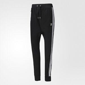 ce3ef04eb0e2 Image is loading Adidas-Women-Drop-Crotch-Pants-black