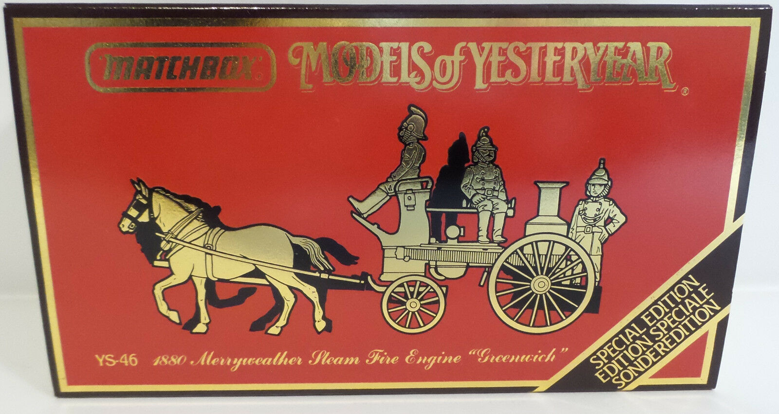 EMERGENCY SERVICES   YS-46 1880 MERRYWEATHER STEAM FIRE ENGINE 'GREENWICH' (DT)