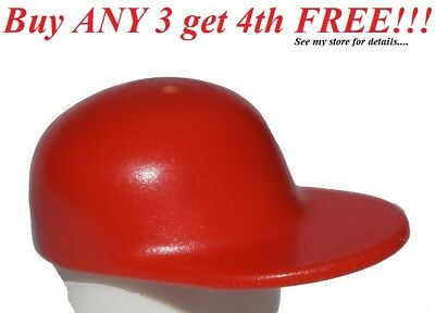 ☀️NEW Lego City Boy//Girl Minifig Hat Dark Red Fire Fighter Fireman Helmet