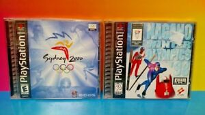 Nagano-Winter-Olympics-98-Sydney-2000-Playstation-1-2-PS1-PS2-Game-Lot
