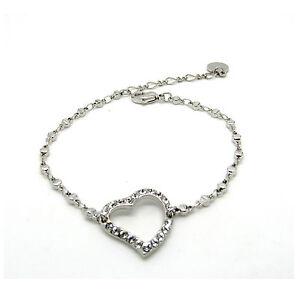 Image Is Loading Crystal Heart Bracelet Made With Swarovski Crystals
