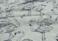 Flamingo Grey T-shirt 100% cotton jersey fabric single light Stretch  fJ282<