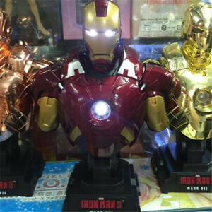 Marvel-039-s-The-Avengers-Iron-man-3-MK7-1-4-Scale-Bust-Statue-Light-Up-Collection