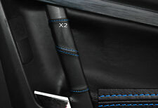 BLUE STITCH 2X REAR DOOR HANDLE SKIN COVERS FITS VAUXHALL OPEL VECTRA C SIGNUM