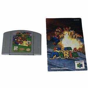 Super-Mario-64-Nintendo-64-1996-Cartridge-and-Manual-Tested-Works