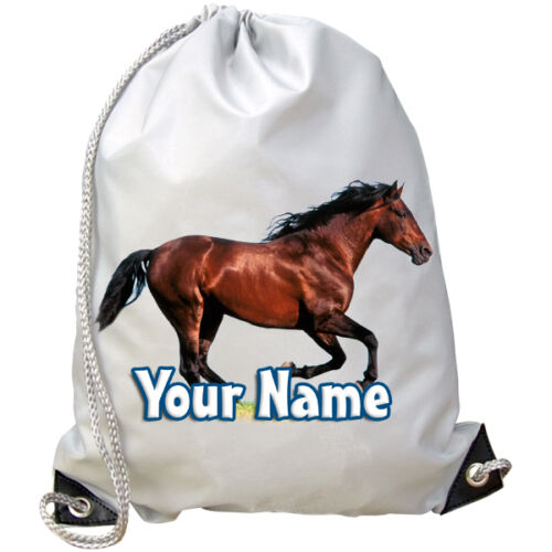 HORSE PONY PERSONALISED GYM SWIMMING DANCE BAG PE GREAT GIFT /& NAMED 2