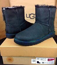 0cd3a4864a2 UGG Australia 1007418 Classic Mini Rock Sheepskin Leather BOOTS ...