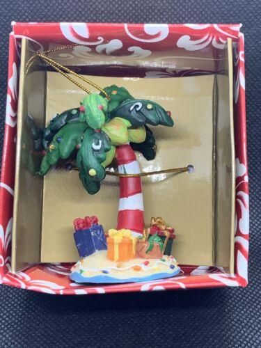 Hawaiian Christmas Ornament Hand Painted Palm Tree 2