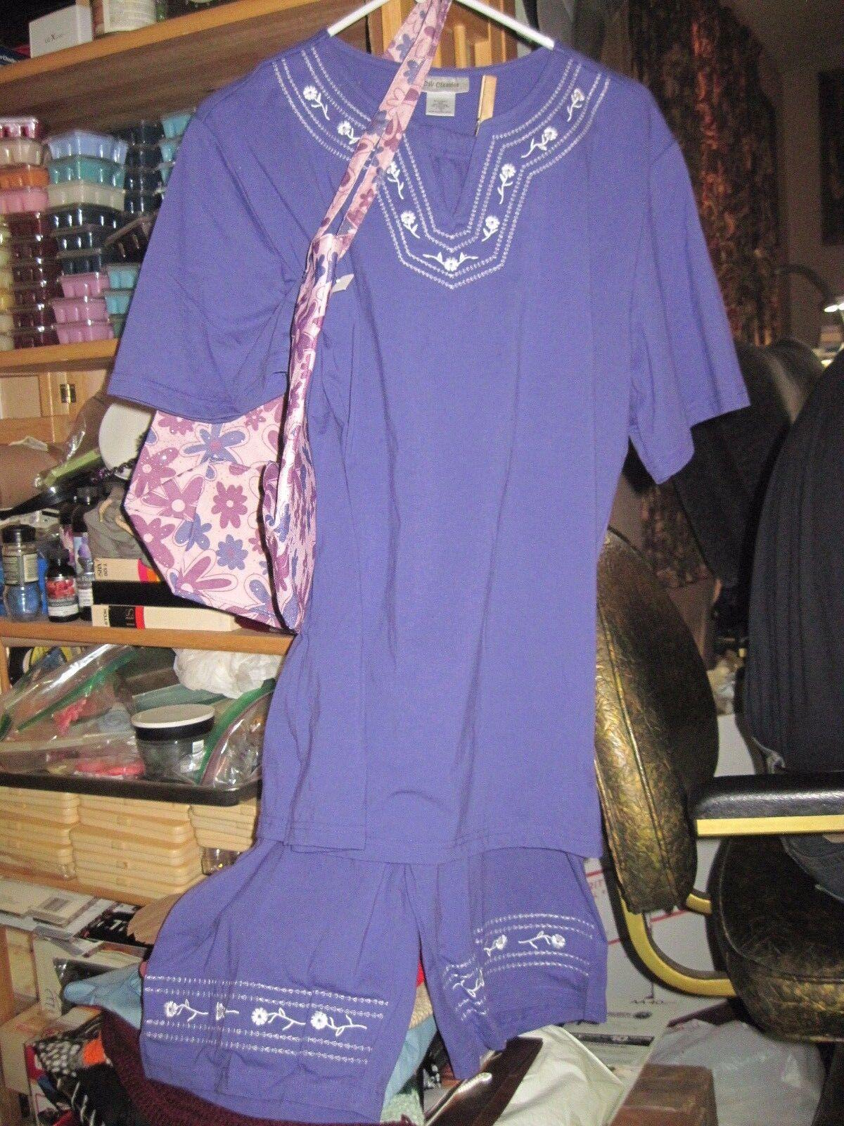 VTG Woman's CW CLASSICS 3pc Purple 'Sailor Beach' Outfit sz 1X w  PURSE..JMFCL10
