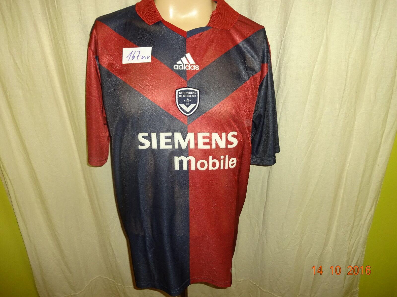 Girondins de Bordeaux Adidas Heim Trikot 2003 04  SIEMENS mobile  Gr.L Neu