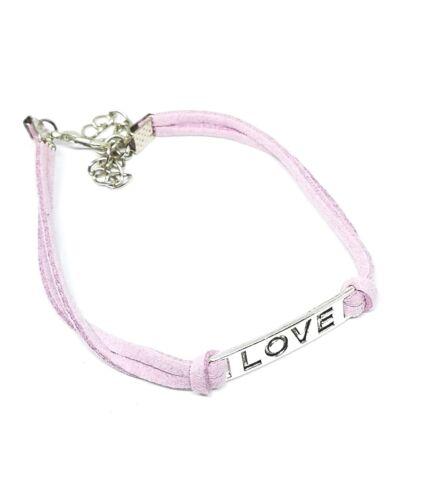 Adjustable Love Friendship Braided Silver Bracelets Wristband Gift Mens Womens