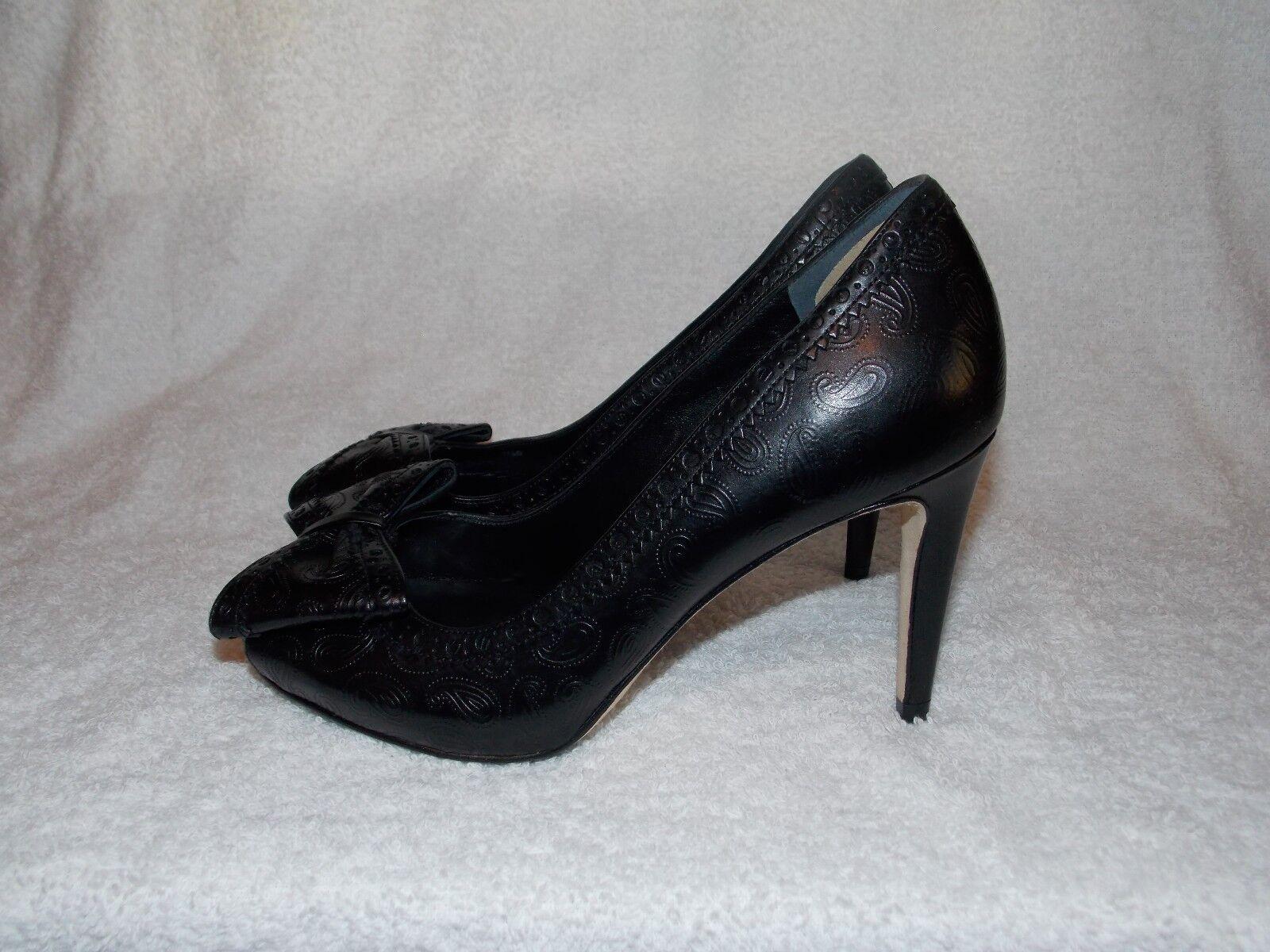 Cole Haan VIOLET AIR OT BOW Black Peep Toe Pump Heels 5.5B For Women Used