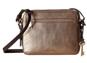 New Fossil Women Piper Toaster Leather Crossbody Bags
