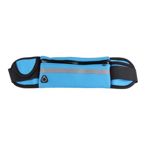 Zip Waist Bum Bag Runner Running Jogging Cycling Belt Pouch Sports Fanny Pack US