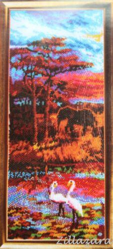 Afrika Teil 1 See Stickpackung Stickbild Stickset Bild sticken mit Perlen 167