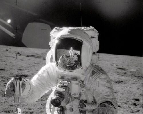 Astronaut Alan Bean Samples the Ocean of Storms 8x10 Photo Apollo 12 NASA