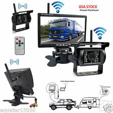 "Wireless 7"" Car Rear View Monitor + Backup Camera + Antenna For Truck Trailer"