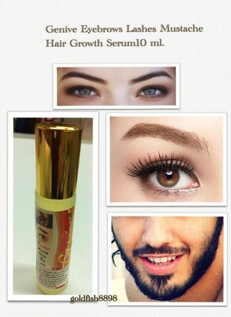 Genive Natural Growth Stimulator Serum 10ml.,Eyebrow Lashes Mustache and Hair.