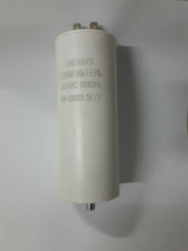 Condensatore per avviamento motori elettrici 80 MF  450 V