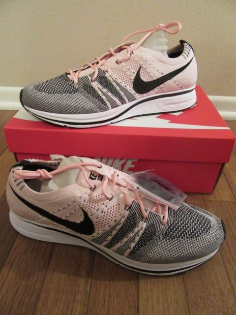 hot sale online 3670b 0cff7 Nike Flyknit Trainer Size 11 Sunset Tint Pink Black White AH8396 600 NEW NIB