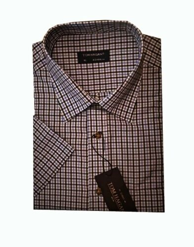 3311 da uomo manica corta estate filato tinto in Policotone Check Camicia M-2XL Tom Hagan