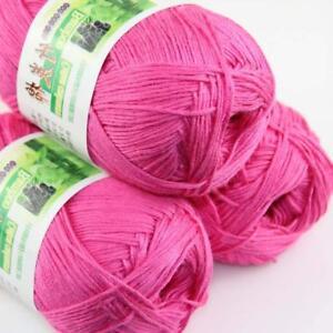 Sale New 3 Skeinsx 50g Soft Bamboo Cotton Baby Hand Knit  Shawls Crochet Yarn 20