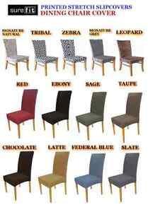 Surefit Stretch Dining Chair Cover Zebra Tribal Leopard
