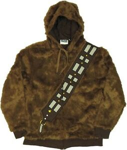 Star Wars I Am Chewbacca Wookie Costume Zip Up Furry Hoodie Ebay