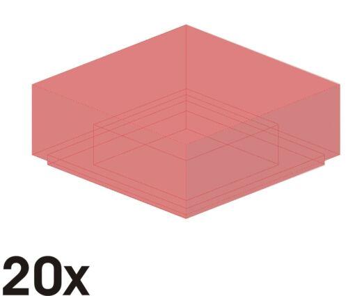 403 3070b nouvelle 1x1 carreaux en rouge-transparent 20 St