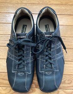 skechers mens citywalk midnight shoe sz 12 black leather