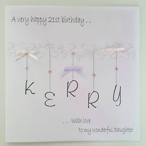 Image Is Loading LARGE PERSONALISED 21st BIRTHDAY CARD DAUGHTER 13TH 16TH