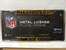Pittsburgh Steelers Metal Frame Acrylic Inlaid Mirror License Plate Frame - NFL