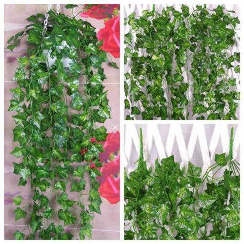2Stk 2.4Meter Efeu Künstliche Girlande Efeugirlande Efeuranke Kunstpflanze Grün