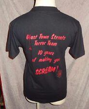 Knott's Halloween Haunt GHOST TOWN STREETS TERROR TEAM CLUB Shirt M L Scary Farm