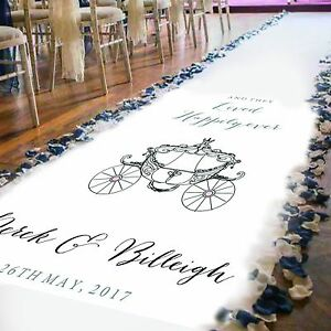 Details About Personalised Wedding Aisle Runner Church Wedding Carpet Decoration 15ft 30ft