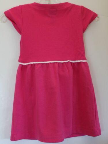 baby Gap NWT Girl/'s Pink Ponte Knit Dress Tunic w// White Trim