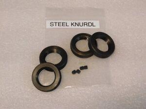 Reloading Die Lock Rings Black Steel Knurl 7 8x14 Rcbs