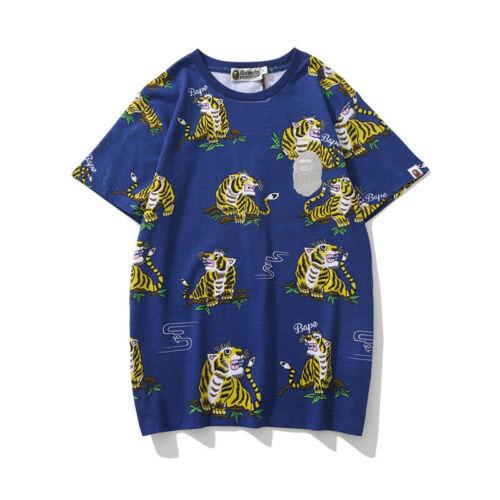 2019 Summer Bape A Bathing Ape Tiger T-shirt Tee Loose Shorts Unisex Short Pants